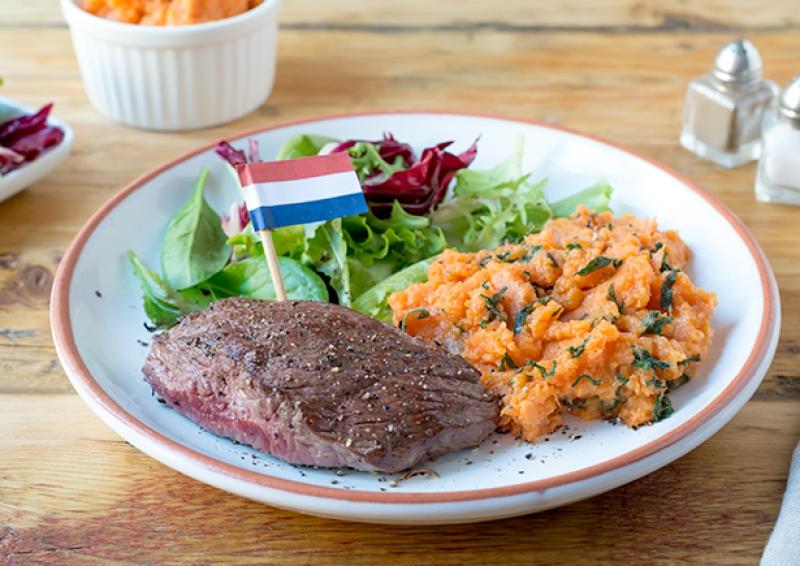 Weihnachten In Holland Steak Mit Susskartoffelstampf